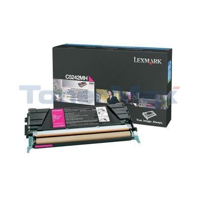 LEXMARK C524 C532 TONER CARTRIDGE MAGENTA 5K